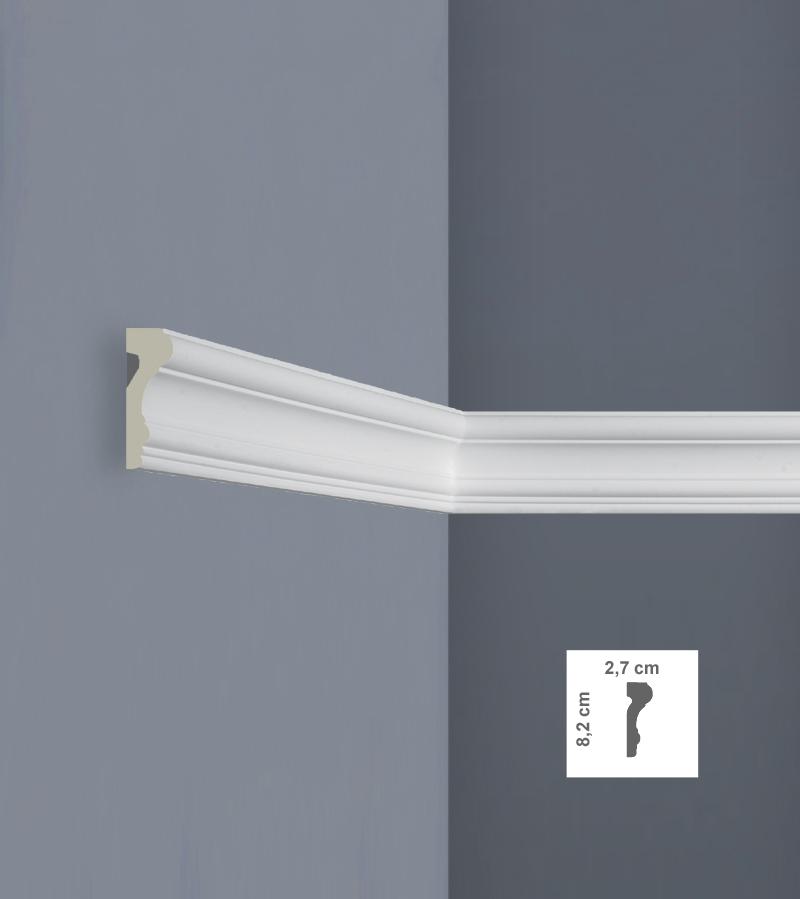 Cornice per pareti e soffitti c3430 in pu poliuretano 2 for Cornice adesiva per pareti