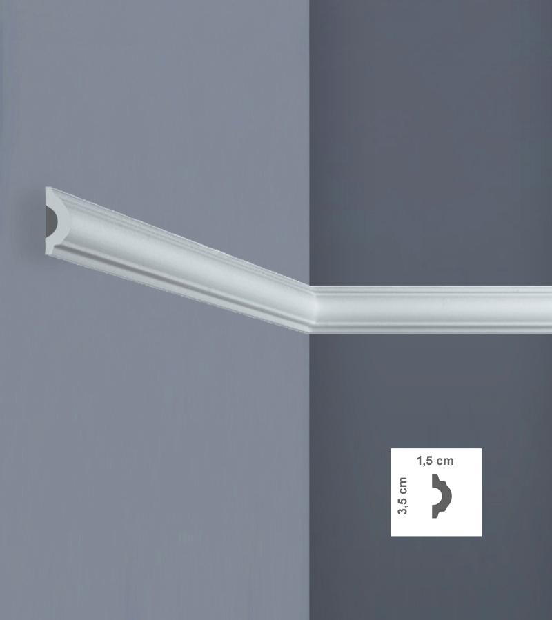 Cornice per pareti e soffitti i744 in xps polistirene for Cornice adesiva per pareti